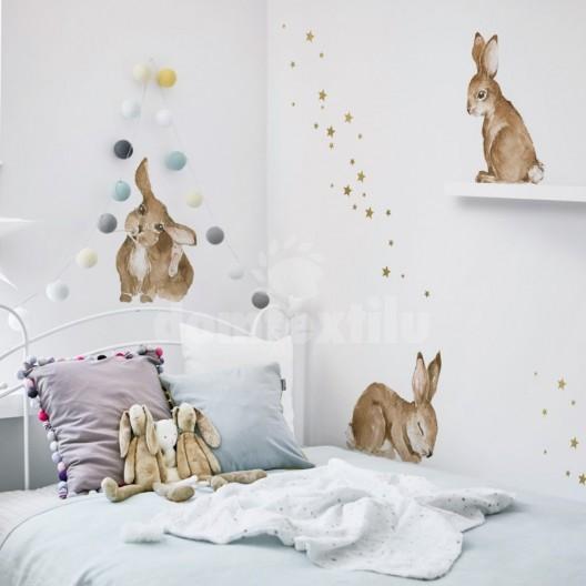 Dekorácie na stenu v podobe zajačikov
