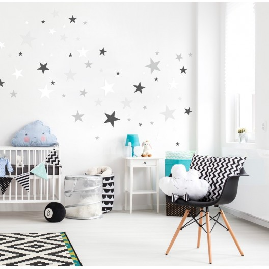Detské nálepky na stenu v podobe hviezdičiek