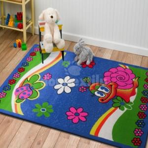 Kvalitný koberec do detskej izby s motívom slimáka