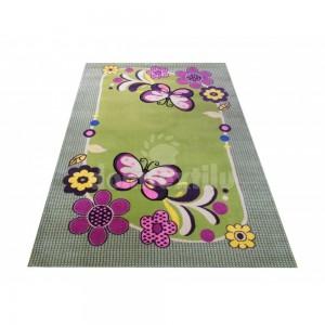 Detský koberec v zelenej farbe
