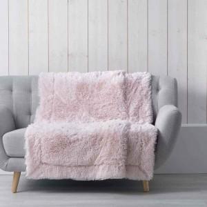 Jemná deka chlpatá ružová MARILOU
