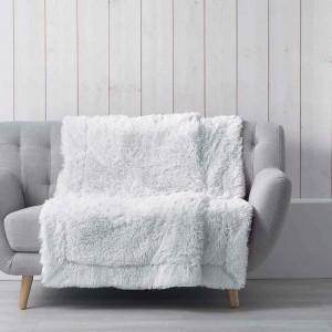 Hrejivá chlpatá deka bielej farby MARILOU