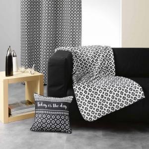 Čierno biela deka vzorovaná GRAPHIC HOME