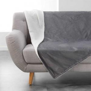 Kvalitná sivá deka AUSTRAL