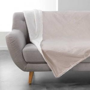 Béžová deka z jemného materiálu s kožušinkou AUSTRAL
