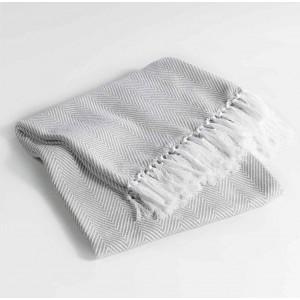 Luxusná bavlnená deka béžovej farby ENOA
