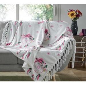 Moderná deka s kvetinovými lapačmi snov HOMEA