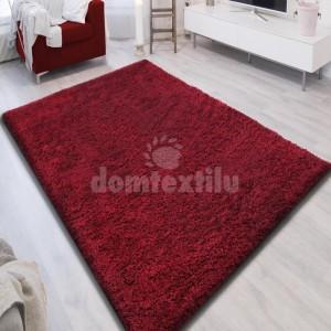 Kvalitný koberec v červenej farbe SHAGGY