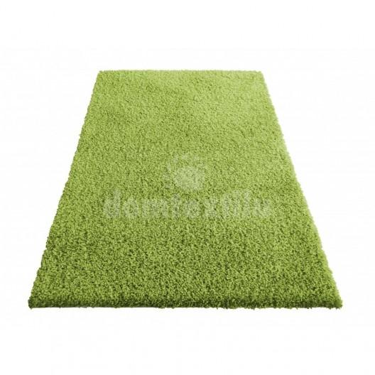 Zelený koberec do obývačky s vláknom SHAGGY