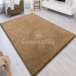 Jednofarebný koberec SHAGGY karamel