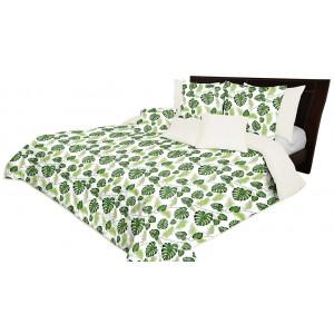 Obojstranný prehoz cez posteľ s listami