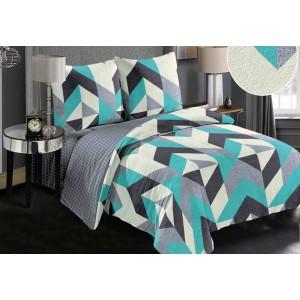 Hrejivé návliečky na posteľ v geometrickom dizajne obojstranné