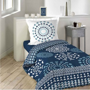 Kvalitné tmavo modré obojstranné obliečky na posteľ DARLA