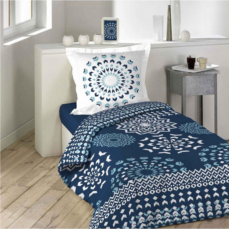 728e9a00f5a Kvalitné tmavo modré obojstranné obliečky na posteľ DARLA