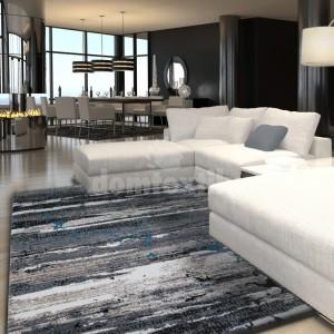 Moderný sivý koberec do obývačky