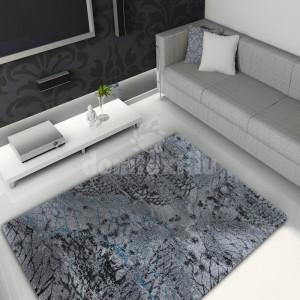 Sivý koberec do obývačky