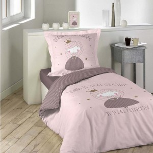 Ružovo fialové dievčenské posteľné obliečky s princeznou ALICE