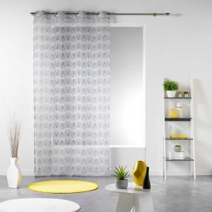 Luxusná záclona do obývačky bielej farby s potlačou EVY SIDE