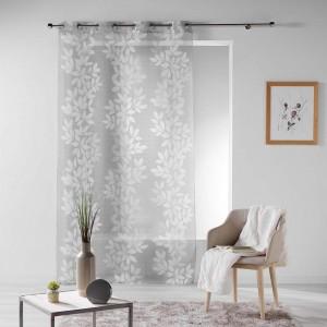 Kusové záclony do spálne sivo biele FARANDOLE