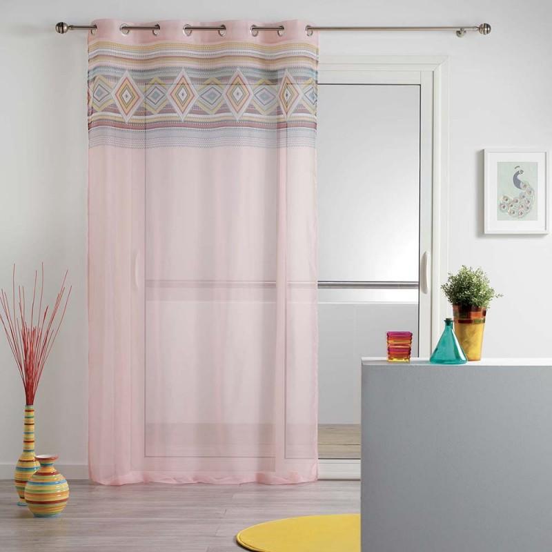 7085dd5c7924a Ružová záclona do detskej izby LUISA