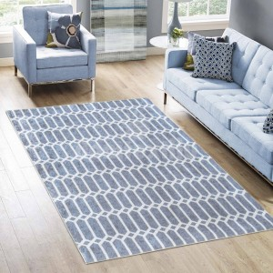 Moderný koberec v sivej farbe do obývačky