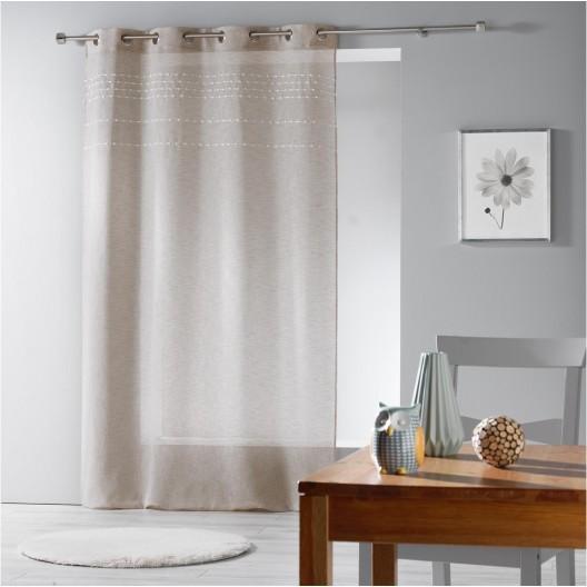 Béžová záclona do obývačky ANDALIA