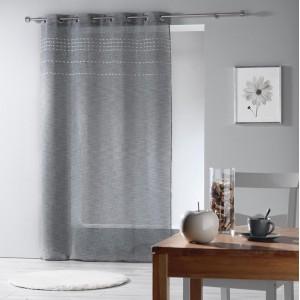 Kvalitné záclony sivé s jemným prešitím ANDALIA