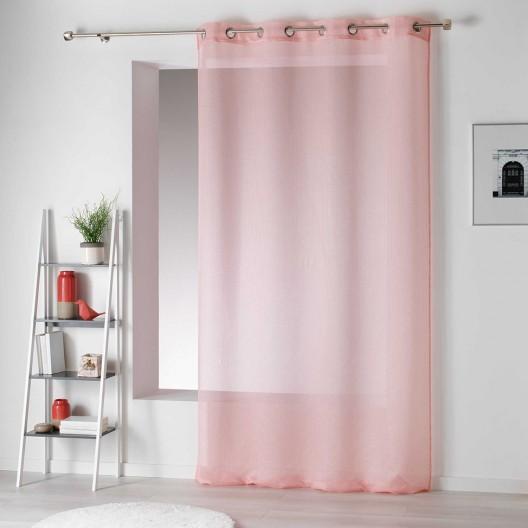 Ružové záclony do spálne jednofarebné ARTESIO
