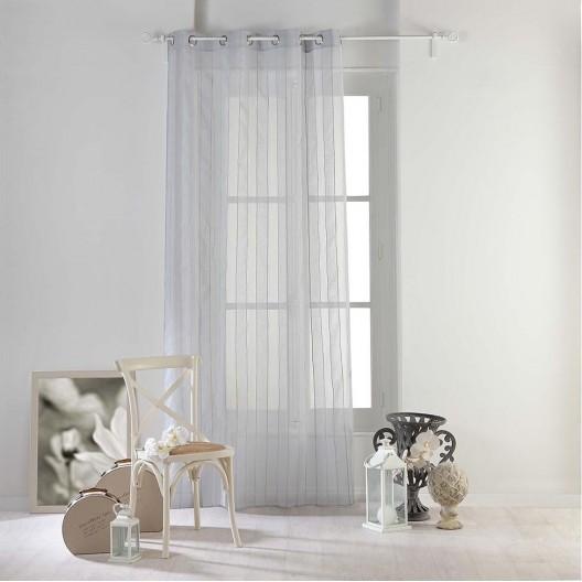 Kusová záclona sivej farby v modernom dizajne NUAGE