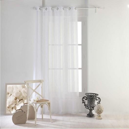 Biela záclona na balkón NUAGE