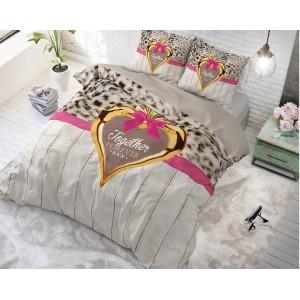 Romantické posteľné návliečky so srdcom TOGETHER FOREVER
