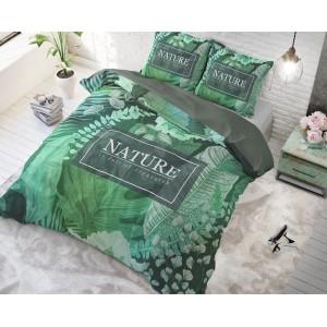 Zelené obliečky na posteľ z bavlny ORGANIC NATURE