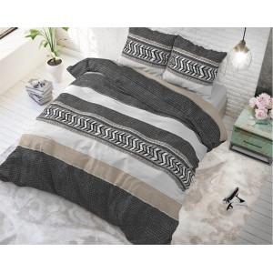 Bavlnené pruhované obliečky na posteľ NORTHERN STRIPE