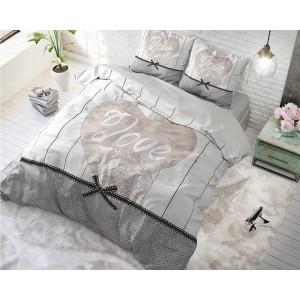 Bavlnené posteľné návliečky s romantickým motívom LOVE ANYWAY