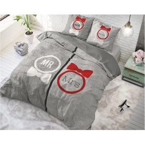 Štýlové obliečky na posteľ sivej farby pre páry TRENDY