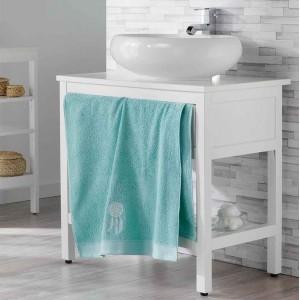 Kvalitný uterák mentolovej farby bavlnený 70 x 130 cm