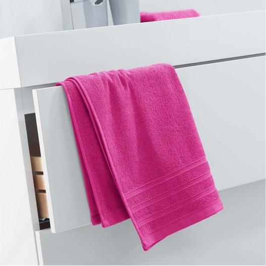 Bavlnený uterák pestrej ružovej farby