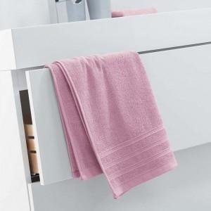 Luxusný svetlo ružový uterák z mäkkej bavlny