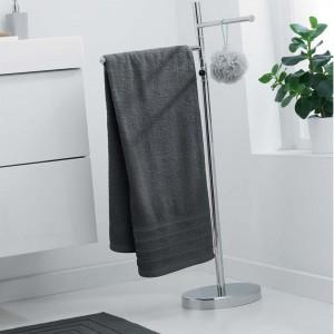 Jednofarebný uterák tmavo sivý bez vzoru