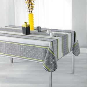 Kvalitný obrus na jedálenský stôl sivo žltej farby FELIZ