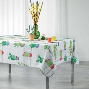 Pestrý kuchynský obrus s kaktusmi MELOCACTUS