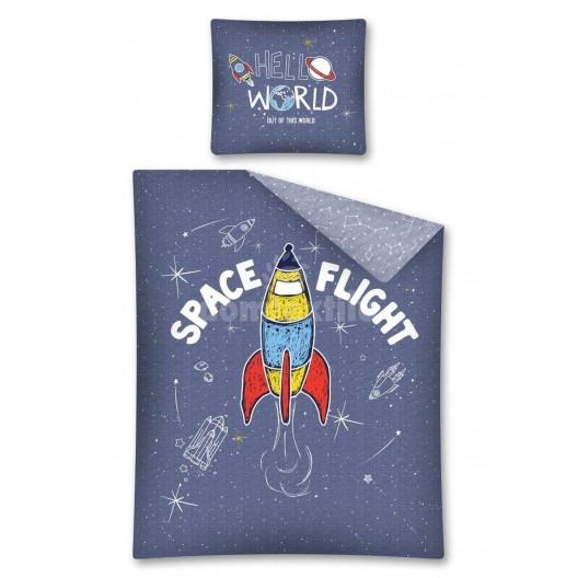 Posteľné obliečky pre deti s raketou
