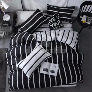 Pásikavé obliečky v čierno bielej farbe