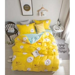 Žlté obliečky na posteľ so smajlíkmi