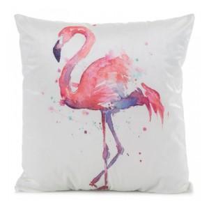 Dekoračná obliečka na vankúše v bielej farbe s pelikánom