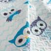 Obojstranný prehoz na detskú posteľ s motívom sovy