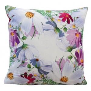Dekoračná obliečka na vankúš s kvetovým motívom