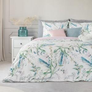 Bavlnené posteľné obliečky s kvetinovým motívom