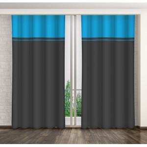 Modro sivé hotové dekoračné závesy do spálne