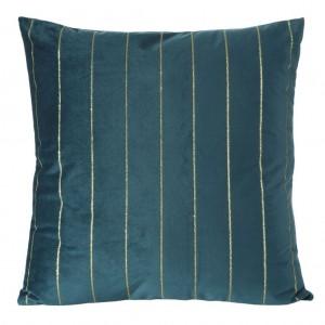 Tyrkysová dekoračná obliečka so zlatou aplikáciou